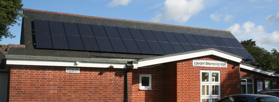 Solar PV Installation - Lavant Memorial Hall
