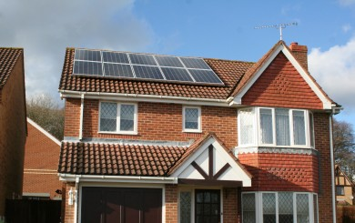 Domestic solar panle installation - Lovedean