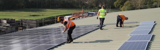 Basil Baird solar pv installation