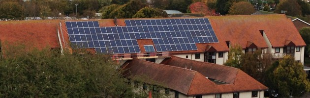 Solar panel installtion at Nicholson Gardens, Porsmouth