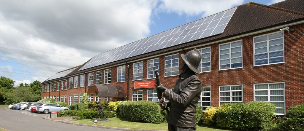 Solar Panels on Hampshire Fire & Rescue Headquarters