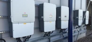 ABB Inverters commercial solar installation