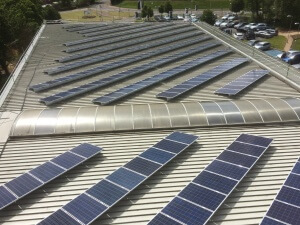 Completed 66KW solar panel installation at Mercedes-Benz Taunton