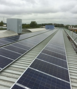 140KW solar panel installation at Mercedes-Benz Exeter