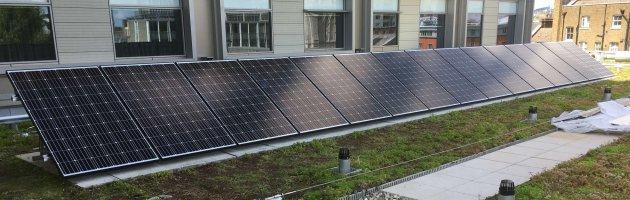 4.5KW Flat Roof Mountedsolae PV system on Park Plaza Waterloo Hotel