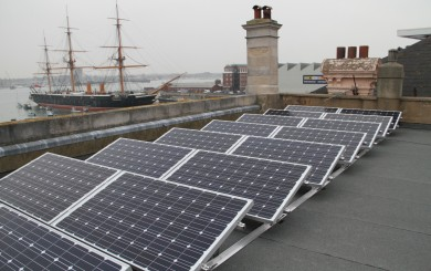 Commercial Solar PV - fitted on a museum roof in Portmsouth