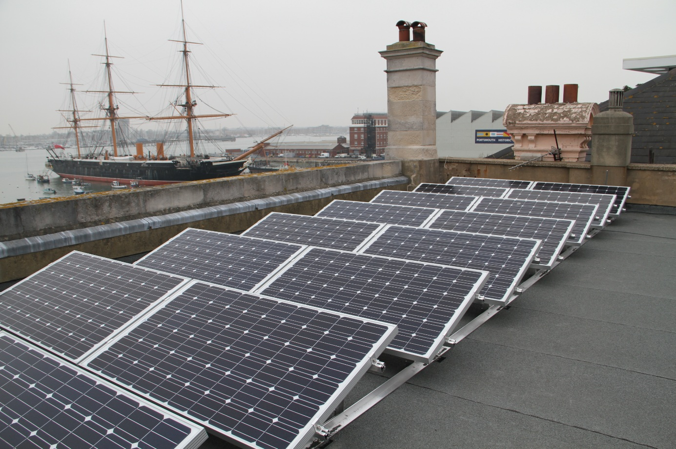 Solar Voltaics Ltd Roof Top Installation In Old Portsmouth