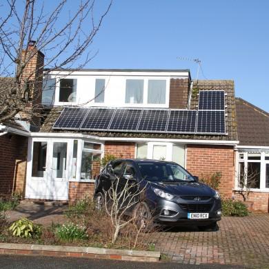 1.75kW monocrystalline solar installation - Emsworth