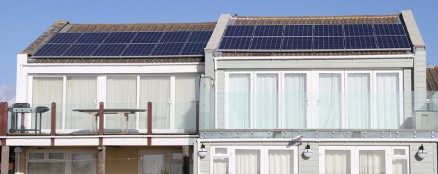 Solar Panels on roof at Bracklesham