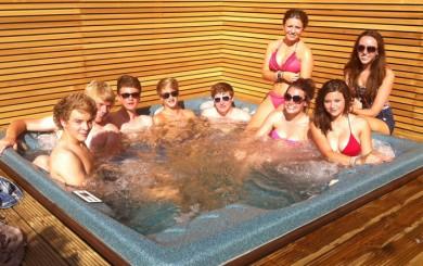 solarsaver to heat hot tub