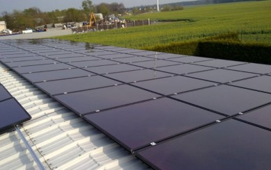 solar panels - thin film amorphous silicon