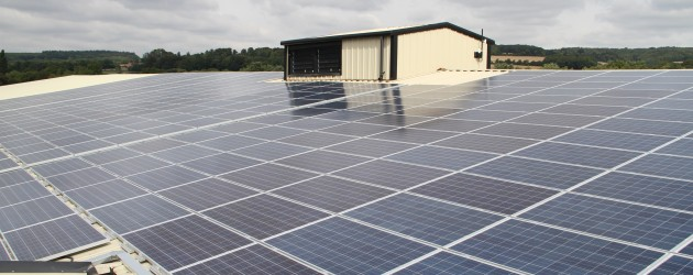 Solar Panel installation on agricultural cold store West Sussex