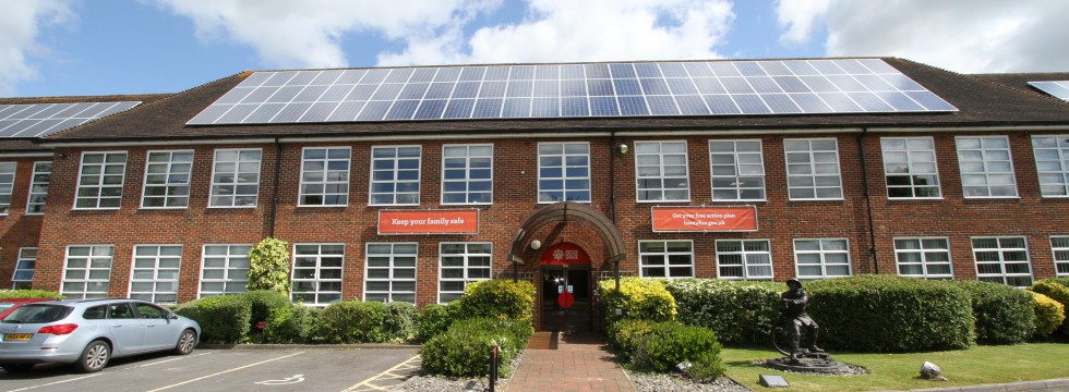 Solar panel Installation at Hampshire Fire & Rescue Headquarters