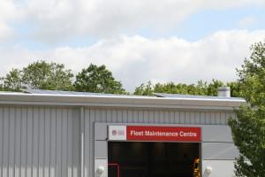 Solar Panels on the Fleet Maintenance Centre