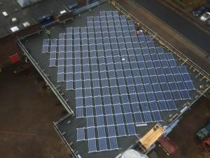 Solar panel installation on Southsea Fire Station