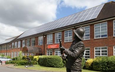 Solar Panels Installation on Hampshire Fire & Rescue Headquarters