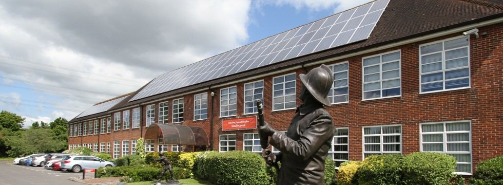 Solar Panels Installation on Hampshire Fire & Rescue Headquarters