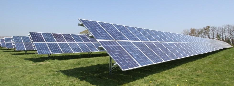Solar ground mount installation at Hayling Island