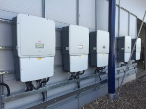 ABB Inverters commercial solar installation