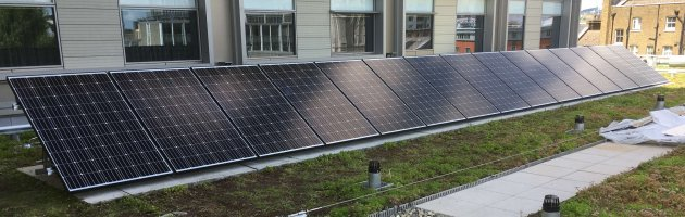 4.5KW Flat Roof Mountedsolae PV system on Park Plaza Waterloo Hotel