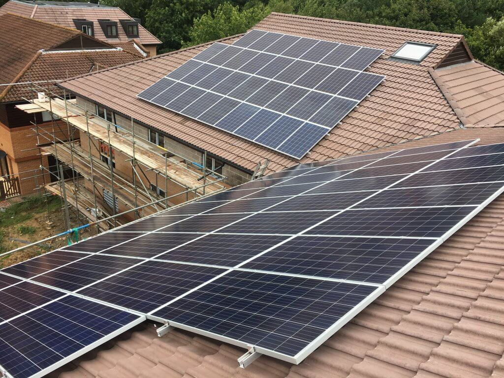 18.4 KW System Installed on New Build Residential Flats in Fareham