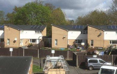 Solar Energy Installation on ThamesWey housing
